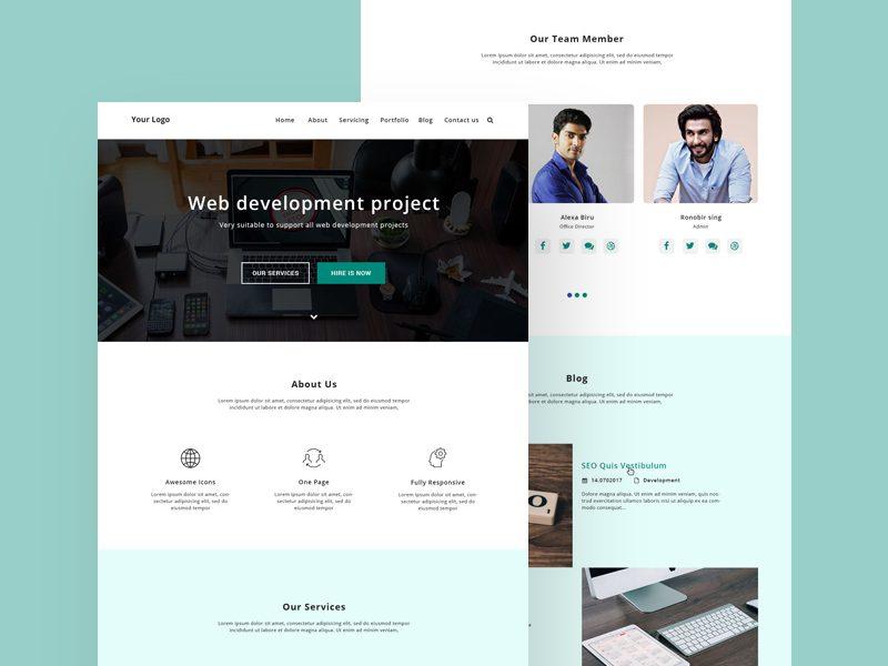 User pattern background for website design